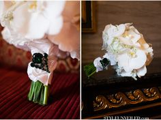 Pin an unexpected (and awesome) brooch to your bouquet.  Love the uniqueness of this emerald one!