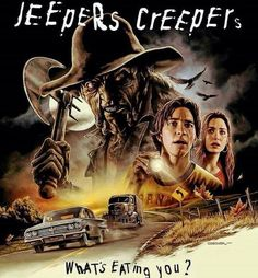 Jeepers creepers, where'd you get those peepers? Jeepers creepers, where'd you get those eyes? Horror Movie Posters, Best Horror Movies, Horror Icons, Classic Horror Movies, Scary Movies, Iconic Movies, Good Movies, Latest Movies, Jeepers Creepers