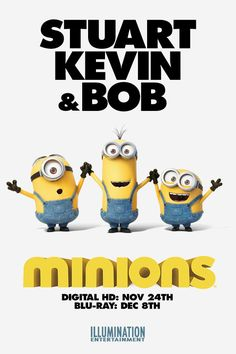 Take the Minions home on Digital HD Nov and Blu-Ray Dec Minions Bob, Minion 2, Despicable Minions, Minion Movie, Minion Banana, Movie Co, Blu Ray, Minions Quotes, New Trailers
