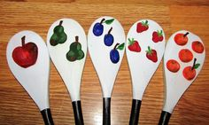 The Very Hungry Caterpillar Story Spoons: story telling Room On The Broom, The Gruffalo, Charity Shop, Very Hungry Caterpillar, Eric Carle, Eyfs, Wooden Spoons, Reading Activities, Artisanal