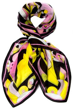 """My idea of Jordan's punchy Pucci scarf from Victoria Abbott's, """"The Christie Curse"""". Gorgeous!! Emilio Pucci Scarf/Wrap @Michelle Coleman-HERS"""