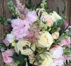 Tone in Tone - Tone in Tone Pink Bouquet, Bouquets, Floral Design, Floral Wreath, Wreaths, Bridal, Rose, Flowers, Plants