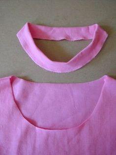 Tutorial de cómo coser el cuello a una camiseta