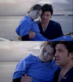 Derek pulls Meredith out of the water. yep cried during this one too.