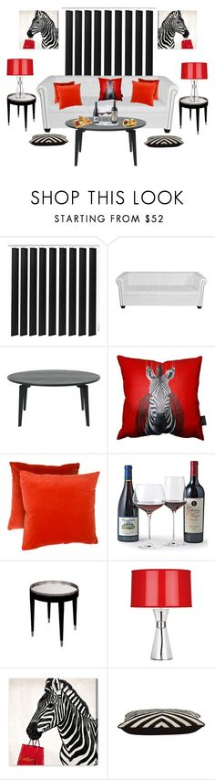 """""""Classy Zebra"""" by gigi-sessions ❤ liked on Polyvore featuring interior, interiors, interior design, home, home decor, interior decorating, Robert Abbey, Oliver Gal Artist Co., Jayson Home and Picnic at Ascot"""