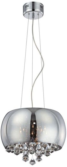 "Lite Source Smoked Glass 15 1/2"" Wide Crystal Pendant Light -"