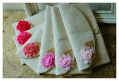 Set of Six  6  Bridesmaid Clutches Bridesmaid Gifts by hoganfe,