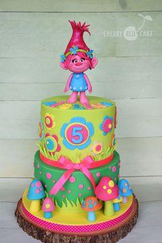 Trolls cake- Poppy