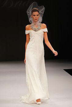 Brides.com: Anne Hathaway's Wedding Dress: Get the Look. Badgley Mischka. Gown by Badgley Mischka  Browse more Badgley Mischka wedding dresses.