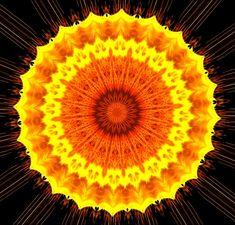 Caleidoscópio, Mandala, Sol, Raios, Padrão, Design