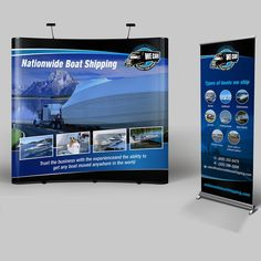 Trade Show Banner for Boat shipping company