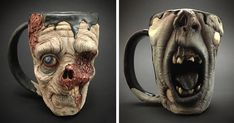 Now You Can Drink Your Morning Coffee From A Zombie Head | Bored Panda