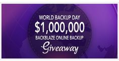www.backblaze.com/partner/af4252?redirect=worldbackupday.html  Back-up - so much of our lives are stored on our computers. I personally use this service and like them. What a piece of mind!