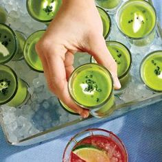 Chilled Sweet Pea Soup with Mint and Cream | MyRecipes.com