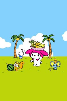 My Melody in tropical paradise