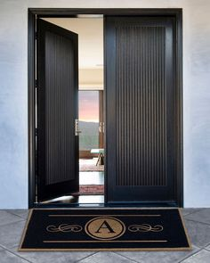 Shop Custom Regal Horse Mat from Rugs That Fit at Horchow, where you'll find new lower shipping on hundreds of home furnishings and gifts. Modern Entrance Door, Modern Exterior Doors, Modern Front Door, Double Front Doors, Entrance Doors, Main Door Design, Front Door Design, Double Door Design, Porte Design