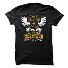 Awesome Tee McARTHUR Tee T shirts