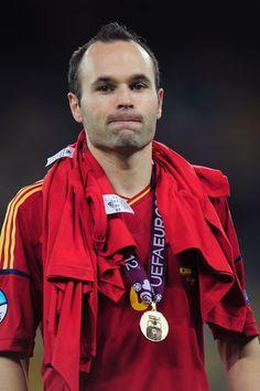 Andres Iniesta Spain v Italy - UEFA EURO 2012 Final
