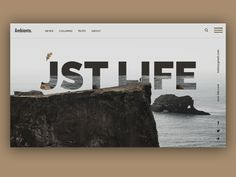 Blog Design, Web Design, News Blog, Web Development, Concept, Creative, Modern, Life, Design Web