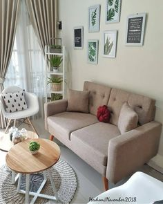 Keep updated with the newest small living room decor ideas (chic modern). Discover excellent methods for getting fashionable design even though you have a small living room. New Living Room, Living Room Interior, Living Room Decor, Bedroom Decor, Small Living, Home Room Design, Living Room Designs, House Design, Decoration