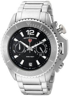 Swiss Legend Men's 'Scorpion' Quartz Stainless Steel Automatic Watch, Color:Silver-Toned (Model: 14019SM-11) >>> Click image to review more details.