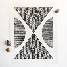 """Details about this item:      * Linoleum carving pressed by hand     * Printed with black soy-ink on natural ivory paper     * Ethically and sustainably made     * 11"""" x 14"""" print  Each item is handmade and therefore will have unique qualities. No two  prints will be exactly alike.  ©Land & She"""