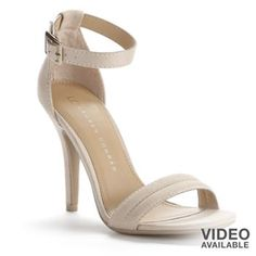 LC Lauren Conrad Strappy Dress High Heels - Women