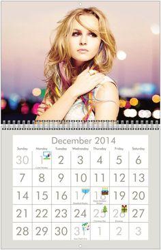 BRIDGIT MENDLER 2014 Wall Calendar - $14 email posh.clique@ymail.com for purchase