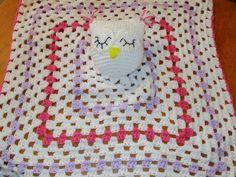 Crochet Owl Lovey, Owl Lovey, Crochet Lovey, Baby Owl, Baby Lovey, Baby Blanket - pinned by pin4etsy.com