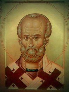 Byzantine Icons, Orthodox Christianity, Saint Nicholas, Orthodox Icons, Fresco, Princess Zelda, Fictional Characters, Saints, Art