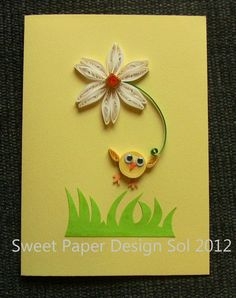 Happy Easter Card (paper quilling)....so cute!