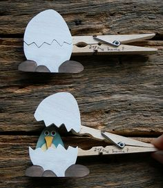 Clever clothespin crafts - egg