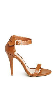 DAILYLOOK Simple Strap Heels in Cognac 5.5 - 7.5 | DAILYLOOK