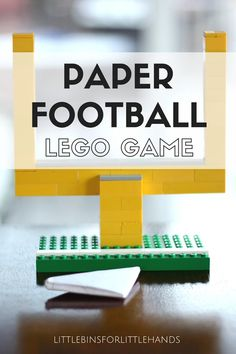 Make a paper football game for a simple screen free activity on an indoor day. Add LEGO goal posts to your next paper football game. Fun family game for kids and adults. Cool activities for everyone to enjoy.