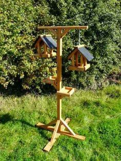 Another new design for 2016 is this twin hanging bird feeding station with side tables and plenty of room for additional seed feeders