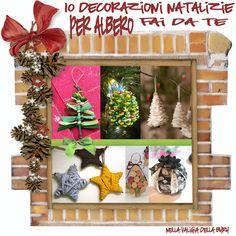 Arriva! Arriva!  Ci siamo quasi!  Volete rinnovare il nostro albero di natale realizzando nuove decorazioni, magari con materiale riciclato?...