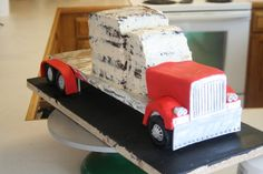Transformers Optimus Prime Truck cake Process