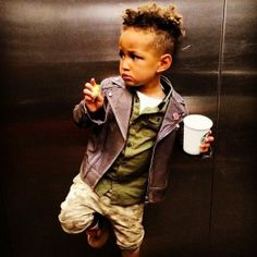 "Yup, it's settled. Alicia Keys and Swizz Beatz's son Egypt Dean is going to be the ultimate heartbreaker when he gets older. Note: His jacket was a gift from ""Unk Busta."""
