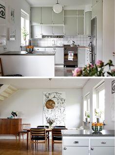Old retro kitchen revamp - Reno phase one Diy Kitchen Decor, Kitchen Styling, Kitchen Interior, Interior Design Living Room, Home Decor, 1930s Kitchen, New Kitchen, Kitchen Dining, Kitchen Retro