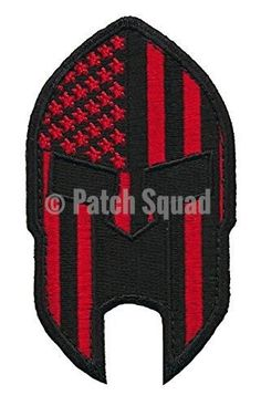 Patch Squad Men's American Flag Spartan Head Molon Labe Patch