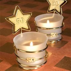 Fifty years of marriage is truly something to be celebrated! Do that and so much more with these darling gold star designed anniversary candle favors! Every golden anniversary tealight holder is. 50th Anniversary Decorations, Anniversary Party Favors, Golden Wedding Anniversary, Wedding Favors, Anniversary Ideas, Wedding Ideas, 70th Anniversary, Wedding Dj, Trendy Wedding