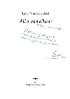 Auteur Leon Verdonschot (alumnus Fontys Hogeschool Journalistiek) was 27-2-2018 te gast bij de minor Creatief Schrijven in de Kennismakerij in Tilburg