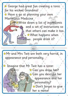 Teacher's Pet - Premium Printable Classroom Activities & Games - Classroom Resources, games and activities for Early Years (EYFS), Key Stage 1 and Key Stage 2 Roald Dahl Activities, Reading Activities, Classroom Activities, Literacy Games Ks2, Georges Marvellous Medicine, World Book Day Ideas, Roald Dahl Day, The Twits, Primary Teaching