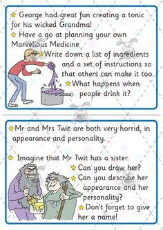 Teacher's Pet - Roald Dahl Challenge Cards
