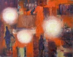 Nightlife, 8x10 Abstract Oil on Canvas, painting by artist Carmen Beecher