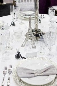 love this Paris themed table from Sweet Dreams Weddings