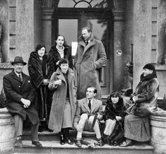 Lord Bemers and party guests including Sir Robert and Lady Diane Abdy, Gertrude Stein and Alice B. Toklas; Robert Hebert Percy is at is seated at the centre