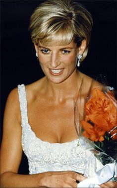 June 02, 1997: Diana, Princess of Wales attends Christie's private viewing of her dresses for auction in London.
