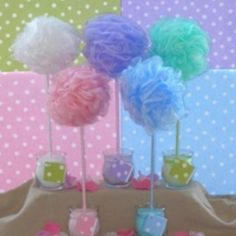 diy Great 4 a spa party. Bath sponge party favors/decorations