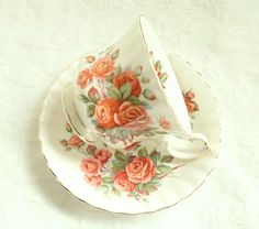 Vintage Royal Albert Centennial Rose Teacup Saucer Tea Cup